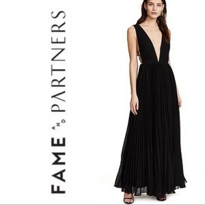 Fame and Partners Allegra pleated dress